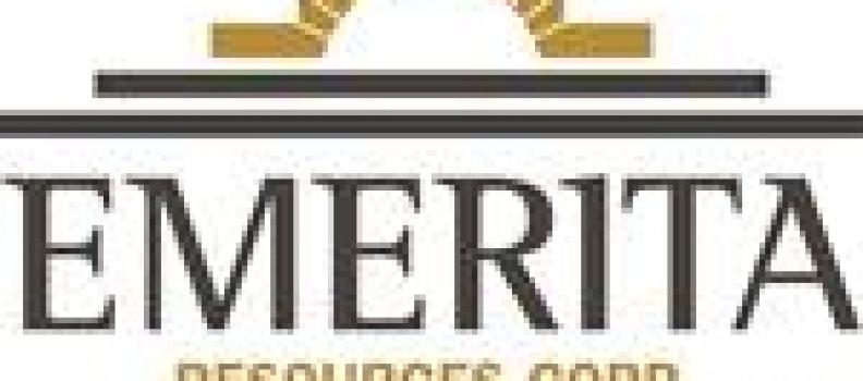 Emerita Announces Closing of $20 Million Bought Deal Private Placement