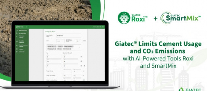 Giatec® Limits Cement Usage and CO2 Emissions With AI-Powered Tools Roxi™ and SmartMix™
