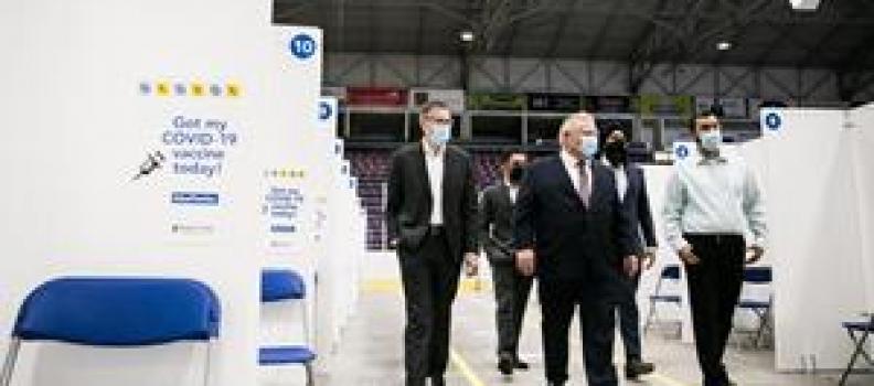 Premier Ford thanks volunteers and organizations for establishing Hockey Hub vaccination Centre in Region of Peel