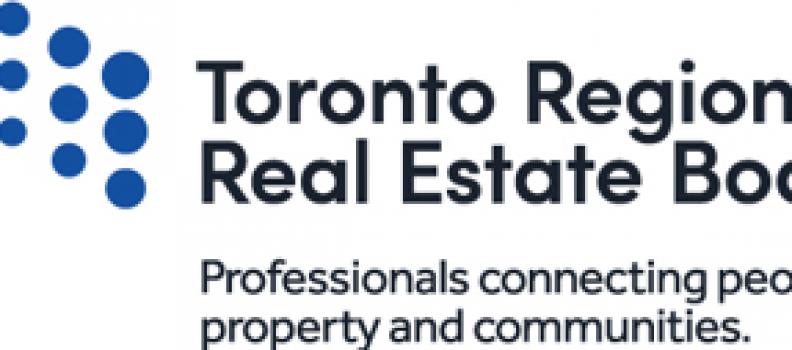 TORONTO REGIONAL REAL ESTATE BOARD RELEASES RESALE HOUSING MARKET STATISTICS
